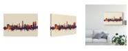 "Trademark Global Michael Tompsett Split Croatia Skyline III Canvas Art - 20"" x 25"""