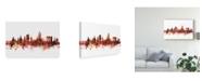 """Trademark Global Michael Tompsett Aberdeen Scotland Skyline Red Canvas Art - 15"""" x 20"""""""