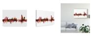 "Trademark Global Michael Tompsett Basel Switzerland Skyline Red Canvas Art - 20"" x 25"""