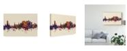 "Trademark Global Michael Tompsett Stirling Scotland Skyline III Canvas Art - 20"" x 25"""