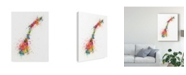 "Trademark Global Michael Tompsett Norway Paint Splashes Map Canvas Art - 20"" x 25"""