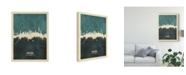 "Trademark Global Michael Tompsett Hamburg Germany Skyline Teal Canvas Art - 37"" x 49"""