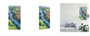"Trademark Global Mica Flying Above II Canvas Art - 37"" x 49"""