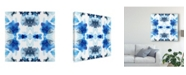 "Trademark Global June Erica Vess Blue Kaleidoscope II Canvas Art - 15"" x 20"""