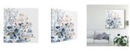"Trademark Global Victoria Borges Indigo & Ochre II Canvas Art - 15"" x 20"""
