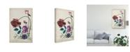 """Trademark Global Melissa Wang Antique Peony II Canvas Art - 15"""" x 20"""""""