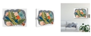 "Trademark Global June Erica Vess Bright Botany II Canvas Art - 37"" x 49"""