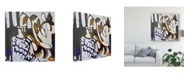 "Trademark Global Erin Mcgee Ferrell Blue IV Canvas Art - 27"" x 33"""