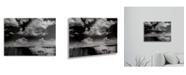 "Trademark Global Philippe Sainte-Laudy Double World Floating Brushed Aluminum Art - 22"" x 25"""