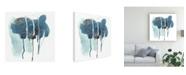 "Trademark Global June Erica Vess Incidental Indigo II Canvas Art - 15"" x 20"""