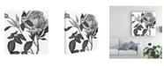"Trademark Global Melissa Wang Flowers in Grey I Canvas Art - 15"" x 20"""