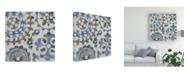 "Trademark Global Chariklia Zarris Water Suzani I Canvas Art - 27"" x 33"""