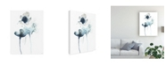 "Trademark Global June Erica Vess Midnight Blossoms II Canvas Art - 20"" x 25"""