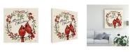 "Trademark Global Janelle Penner Christmas Lovebirds XII Canvas Art - 15"" x 20"""