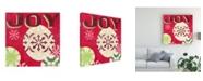 "Trademark Global June Erica Vess Lets Get Jolly IV Canvas Art - 27"" x 33"""