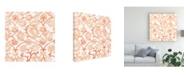"Trademark Global June Erica Vess Bohemian Textile III Canvas Art - 15"" x 20"""