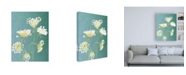 """Trademark Global India & Purry Queen Annes Lace Floral Canvas Art - 19.5"""" x 26"""""""