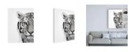 "Trademark Global Design Fabrikken White Tiger Fabrikken Canvas Art - 36.5"" x 48"""