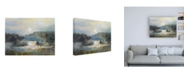 "Trademark Global J Austin Jenning Valley Blue Canvas Art - 27"" x 33.5"""