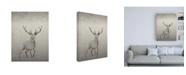 "Trademark Global Incado Deer Illustration Canvas Art - 19.5"" x 26"""