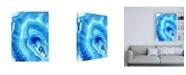 "Trademark Global Nancy Knigh Blue Agate Canvas Art - 36.5"" x 48"""