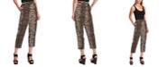 Vince Camuto Cropped Leopard-Print Pants