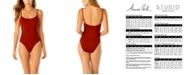 Anne Cole Studio Vintage Lingerie One-Piece Swimsuit