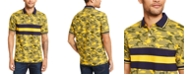 Club Room Men's Regular-Fit Camouflage Colorblocked Stripe Polo Shirt, Created for Macy's
