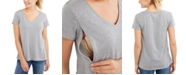 Motherhood Maternity V-Neck Nursing T-Shirt