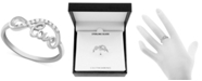 Macy's Diamond (1/10 ct. t.w.) Infinity Love Ring in Sterling Silver