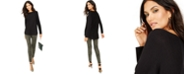 INC International Concepts I.N.C. Shirttail Sweater & Animal-Print Skinny Pants, Created for Macy's
