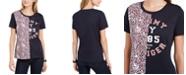Tommy Hilfiger Cotton Half-Print T-Shirt