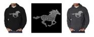 LA Pop Art Men's Word Art Hoodie - Mustang