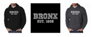 LA Pop Art Men's Word Art Hoodie - Popular Bronx, NY Neighborhoods