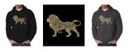 LA Pop Art Men's Word Art Hoodie - Lion