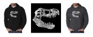 LA Pop Art Men's Word Art Hoodie - T-Rex Skull