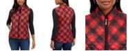 Karen Scott Sport Plaid Puffer Vest, Created for Macy's