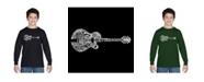 LA Pop Art Boy's Word Art Long Sleeve - Country Guitar