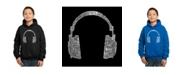 LA Pop Art Boy's Word Art Hoodies - 63 Different Genres of Music