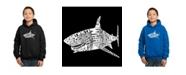 LA Pop Art Boy's Word Art Hoodies - Species of Shark