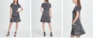DKNY Scribble Print Fit  Flare Dress