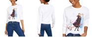 Mad Engine Disney Juniors' Long-Sleeve Cotton Frozen Graphic T-Shirt