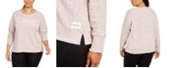 Calvin Klein Plus Size Animal-Print Sweatshirt