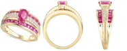 Macy's Certified Ruby (2-3/8 ct. t.w.) & Diamond (1/4 ct. t.w.) Ring in 14k Gold