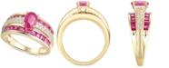 Macy's Certified Ruby (2-3/8 ct. t.w.) & Diamond (1/4 ct. t.w.) Ring in 14k Gold