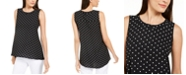 Anne Klein Polka Dot Sleeveless Tunic