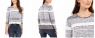 Style & Co Textured Eyelash Sweater, Created For Macy's