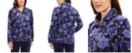 Karen Scott Petite Floral-Print Zip-Front Jacket, Created For Macy's
