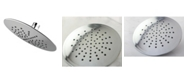 Kingston Brass Showerscape Single Setting 7-Inch ABS Rain Shower Head in Polished Chrome