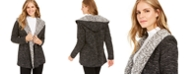 Style & Co Hooded Sherpa-Lined Cardigan, Created For Macy's